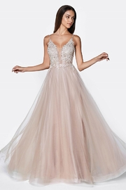 Cinderella Divine Mauve Beaded Bridal Ball Gown - Product Mini Image