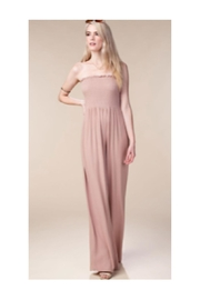 Polly & Esther Mauve/black Smocking Jumpsuit - Product Mini Image