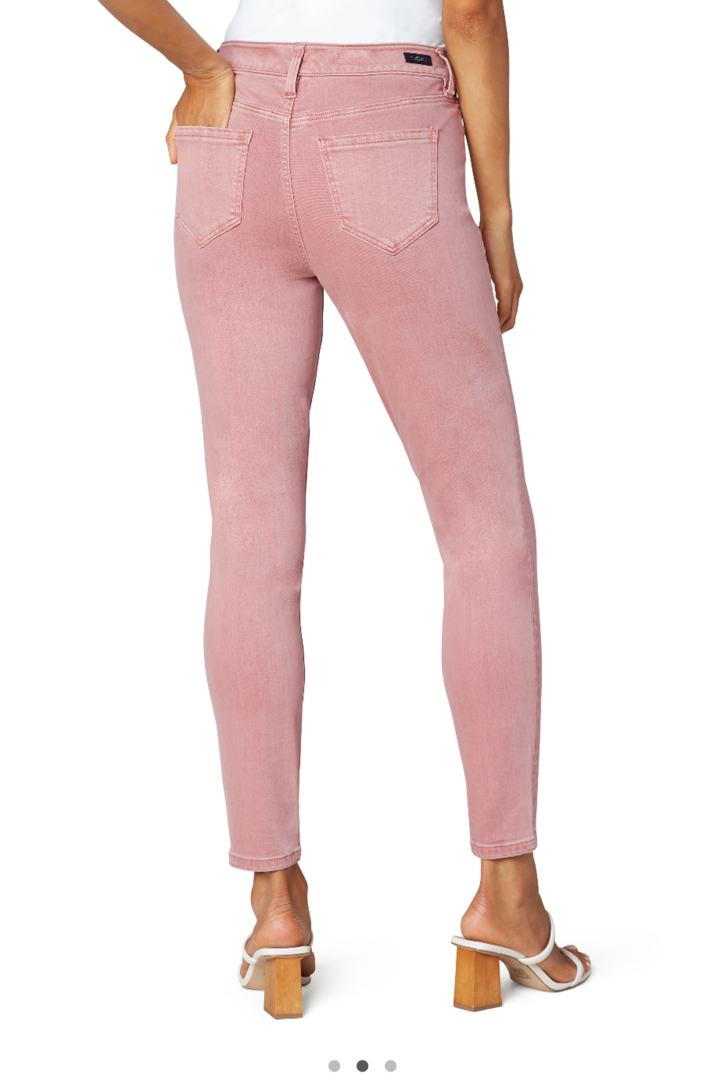 Liverpool  Mauve Blush Abby Ankle Skinny Jean - Front Full Image