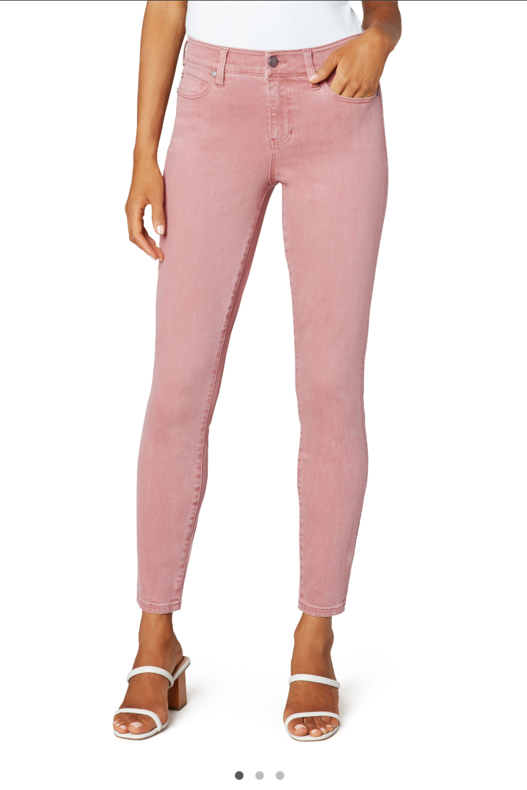 Liverpool  Mauve Blush Abby Ankle Skinny Jean - Main Image