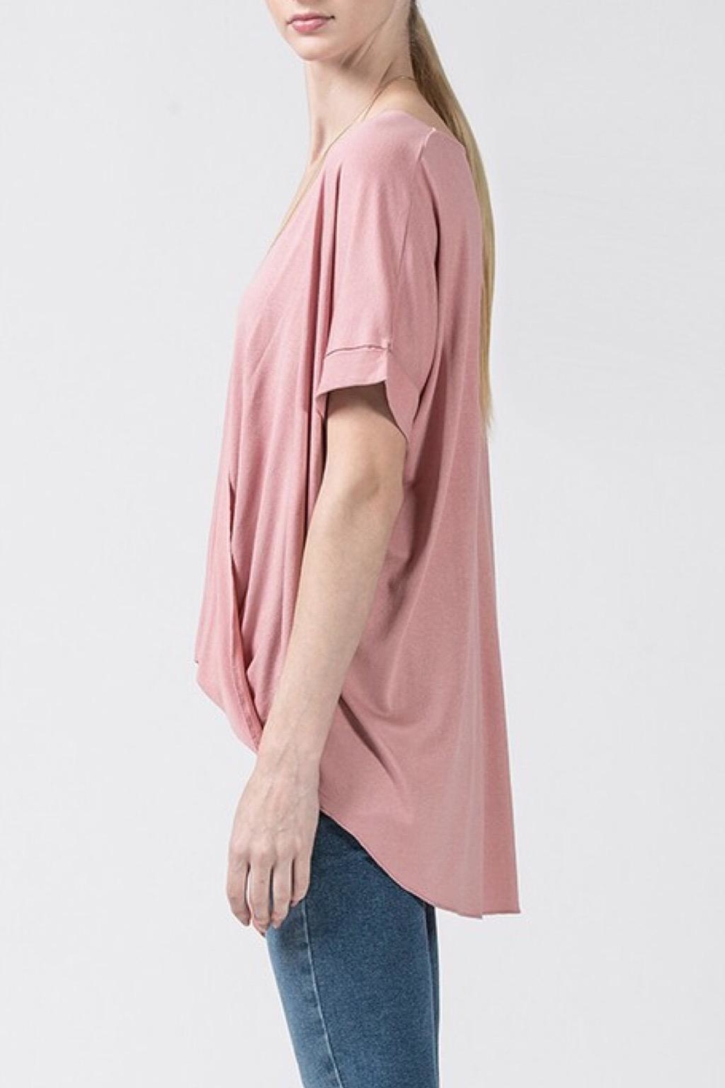 Double Zero Mauve Casual Top - Front Full Image