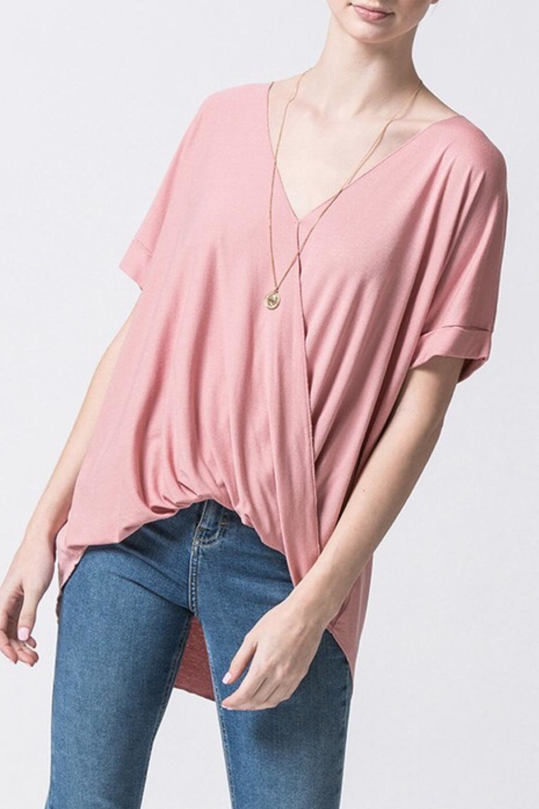 Double Zero Mauve Casual Top - Front Cropped Image