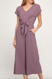She + Sky Mauve Culotte Jumpsuit - Product Mini Image
