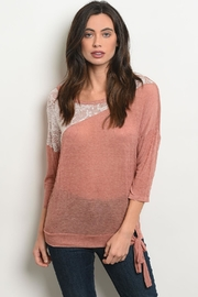 BE Styled Mauve Detail Top - Product Mini Image