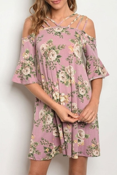 Cotton Bleu Mauve Floral Open/shoulder - Product List Image