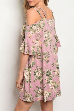 Cotton Bleu Mauve Floral Open/shoulder - Alternate List Image