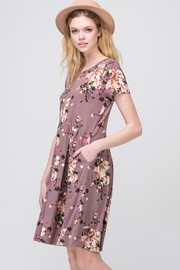 Les Amis Mauve-Floral Pocket Dress - Other