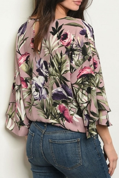 Peach Love California Mauve Floral Top - Alternate List Image
