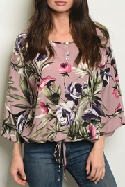 Peach Love California Mauve Floral Top - Product Mini Image