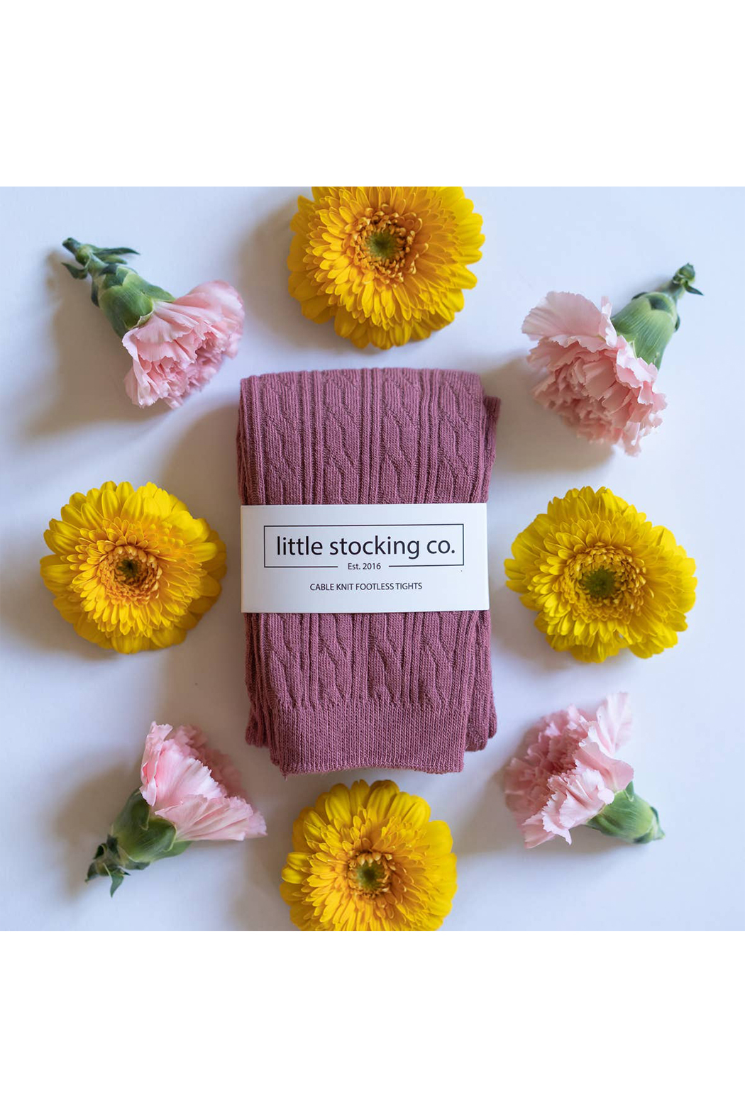 Little Stocking Co Mauve Footless Tights - Main Image