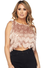Hot & Delicious Mauve Fringe Top - Product Mini Image