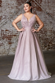 Cinderella Divine Mauve Glitter Ombre A-Line Formal Dress - Product Mini Image