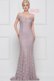 Marsoni by colors Mauve Lace Gown - Product Mini Image