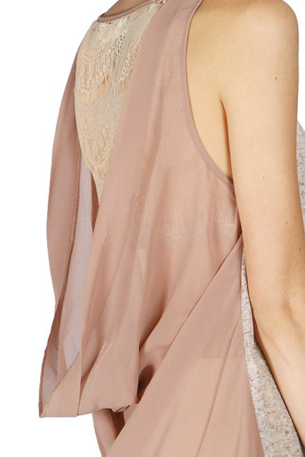 The Vintage Valet Mauve Lace Tanktop - Front Full Image