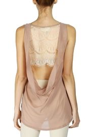 The Vintage Valet Mauve Lace Tanktop - Product Mini Image