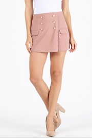 Milk & Honey Mauve Mini Skort - Product Mini Image