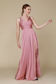 NOX A N A B E L Mauve Pleated Long Formal Dress - Product Mini Image
