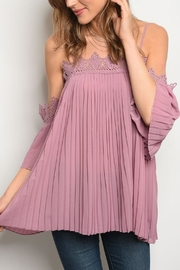 easel Mauve Pleated Top - Product Mini Image