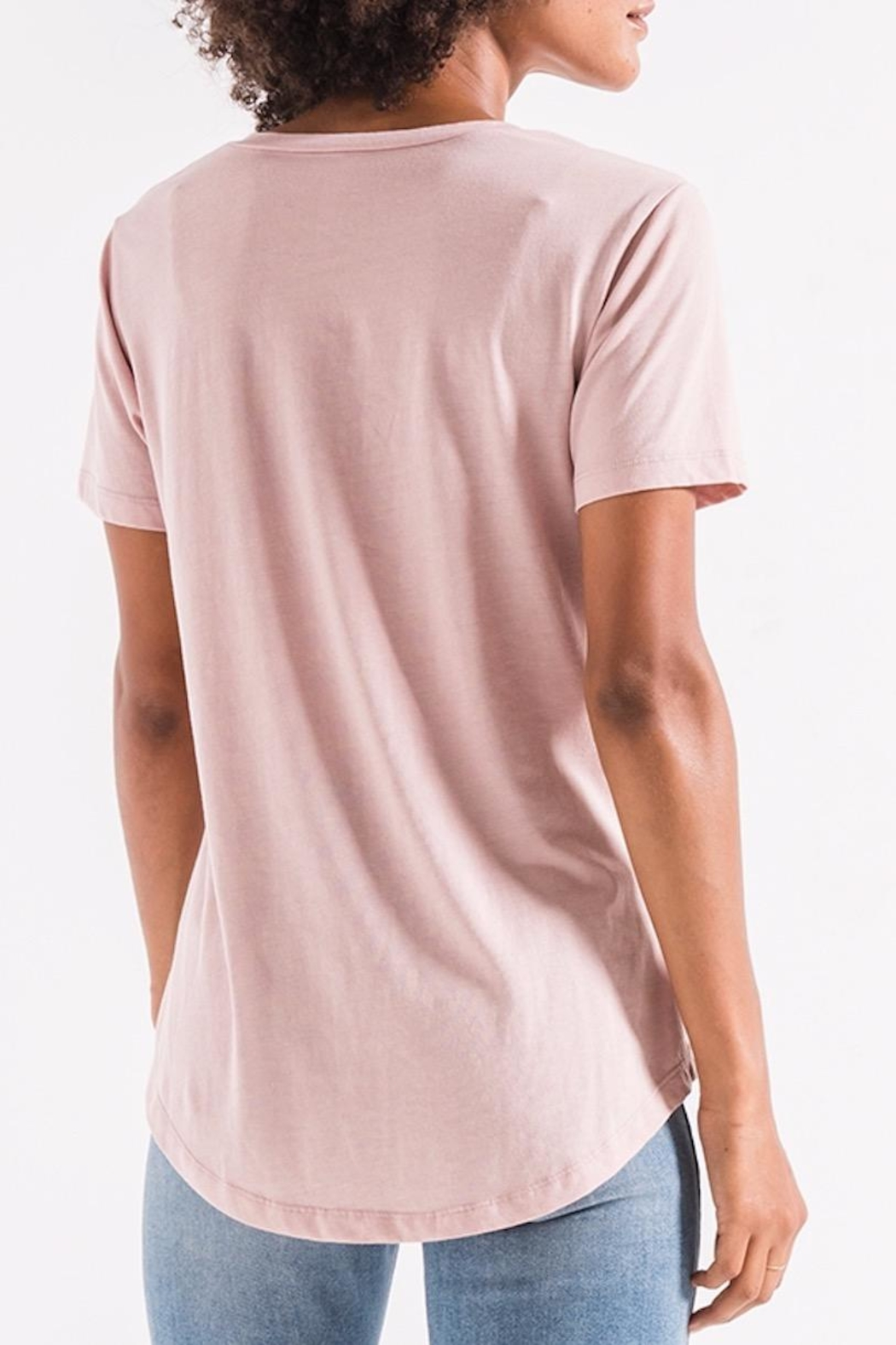 z supply Mauve Pocket Tee - Front Full Image