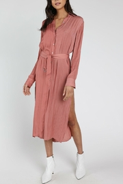 Honey Punch Mauve Shirt Dress - Product Mini Image