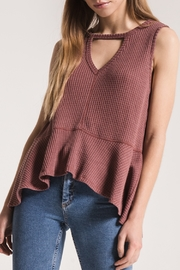Others Follow  Mauve Thermal Sleeveless with Peplum Top - Product Mini Image