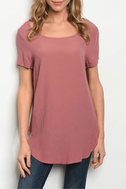 Gilli Mauve Tunic Top - Product Mini Image