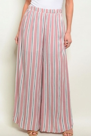 Love in  Mauve Wide-Leg Pants - Front full body