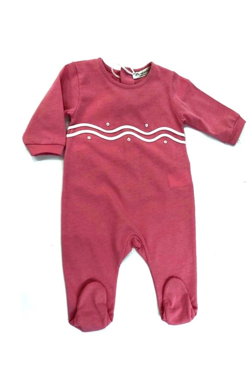 LA MASCOT  BABY FOOTIE WITH SCALLOPED EMBROIDERY - Main Image