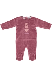 Pounds and Ounces Mauvepink Heart Stretchy - Front cropped