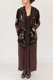 Johnny Was Mavi Hooded Cardigan - Front cropped