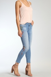 Mavi Jeans Light Embroidered Jeans - Product Mini Image