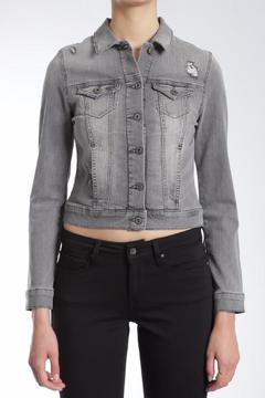 Shoptiques Product: Distressed Vintage Denim Jacket