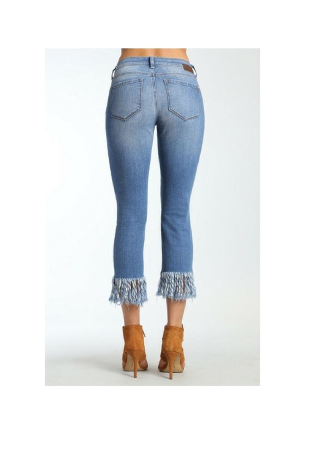 Mavi Jeans Kerry Fringe Denim - Front Full Image