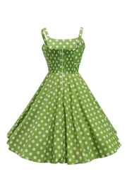 Mavis and Bob Rachel Green Spot Dress - Front full body
