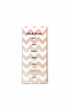 Shoptiques Product: Weekly Menu Motepad