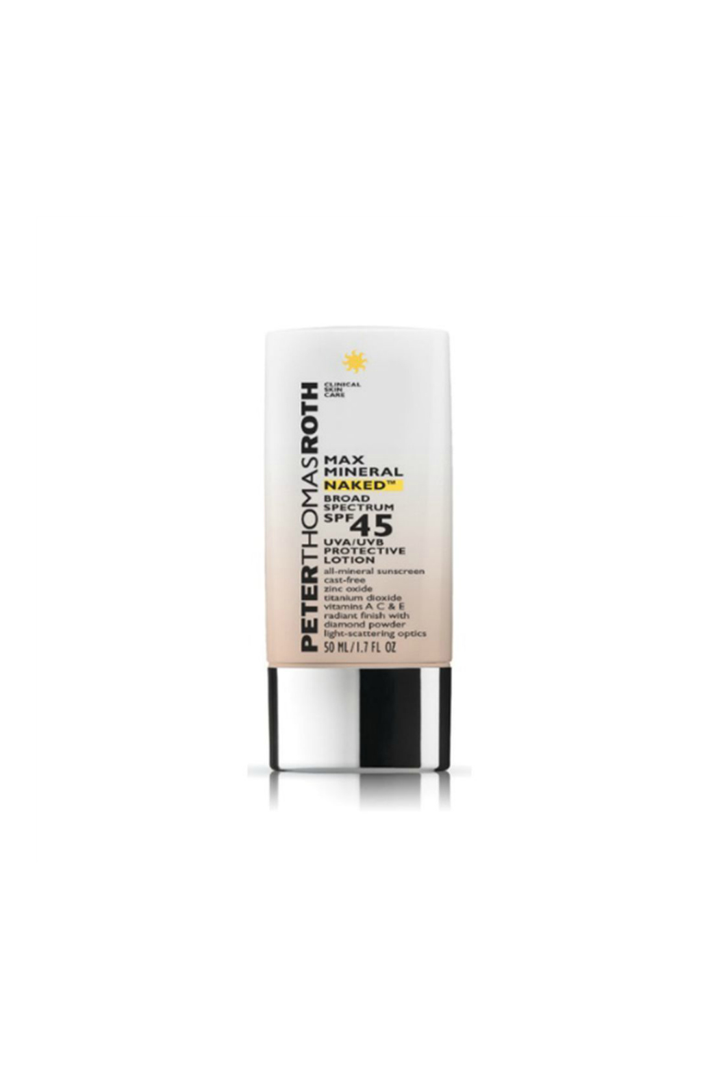 Peter Thomas Roth MAX MINERAL NAKED SPF 45 PROTECTIVE LOTION - Front Cropped Image
