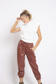 Bishop + Young MAX SHOULDER PAD SWEATER - Front cropped