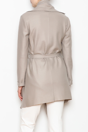 Max Volmary Belted Wrap Jacket - Back cropped