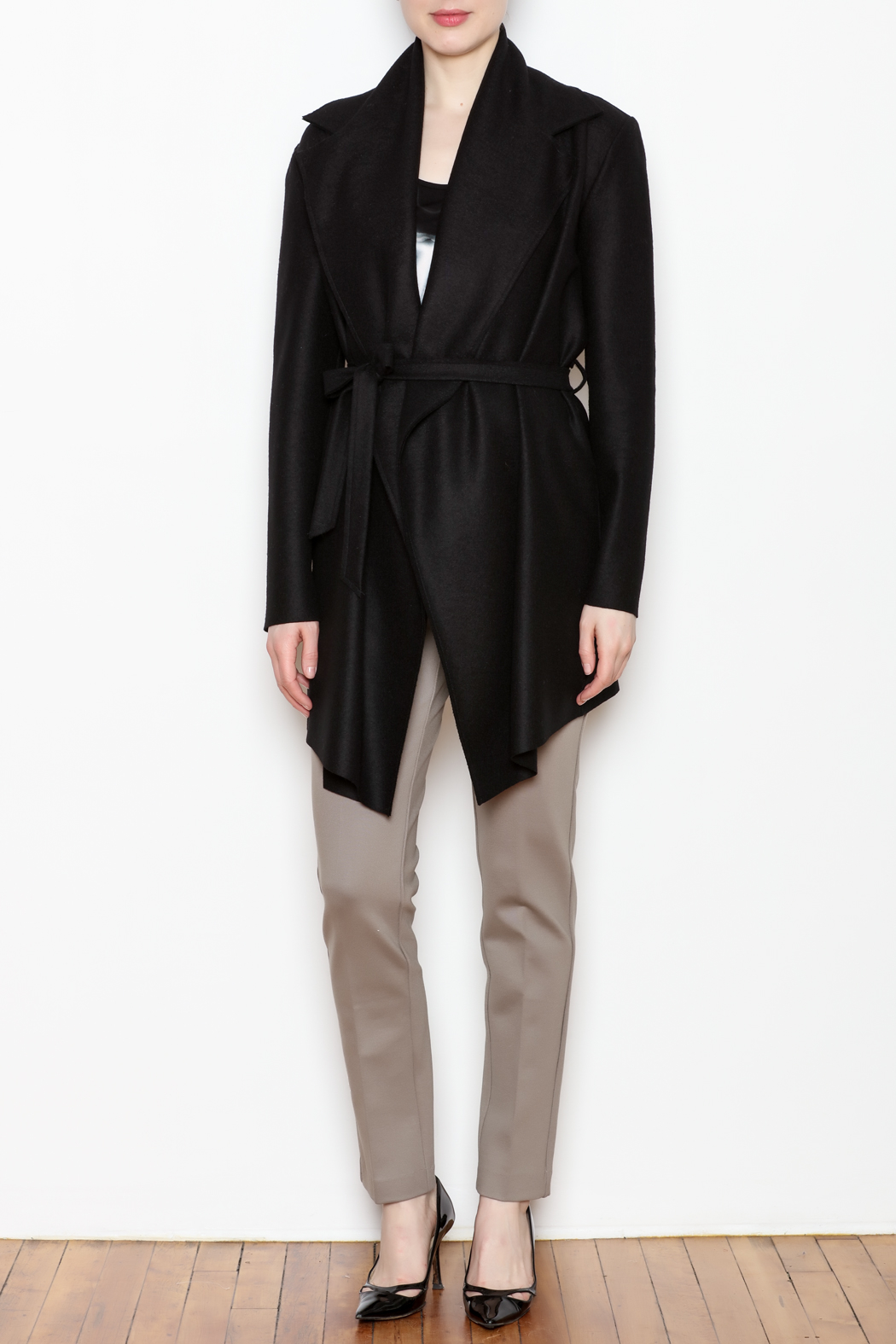 Max Volmary Belted Wrap Jacket - Front Full Image