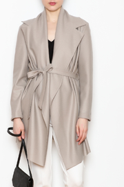 Max Volmary Belted Wrap Jacket - Front cropped