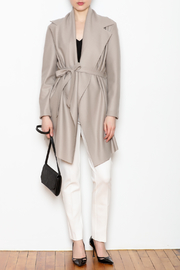 Max Volmary Belted Wrap Jacket - Front full body