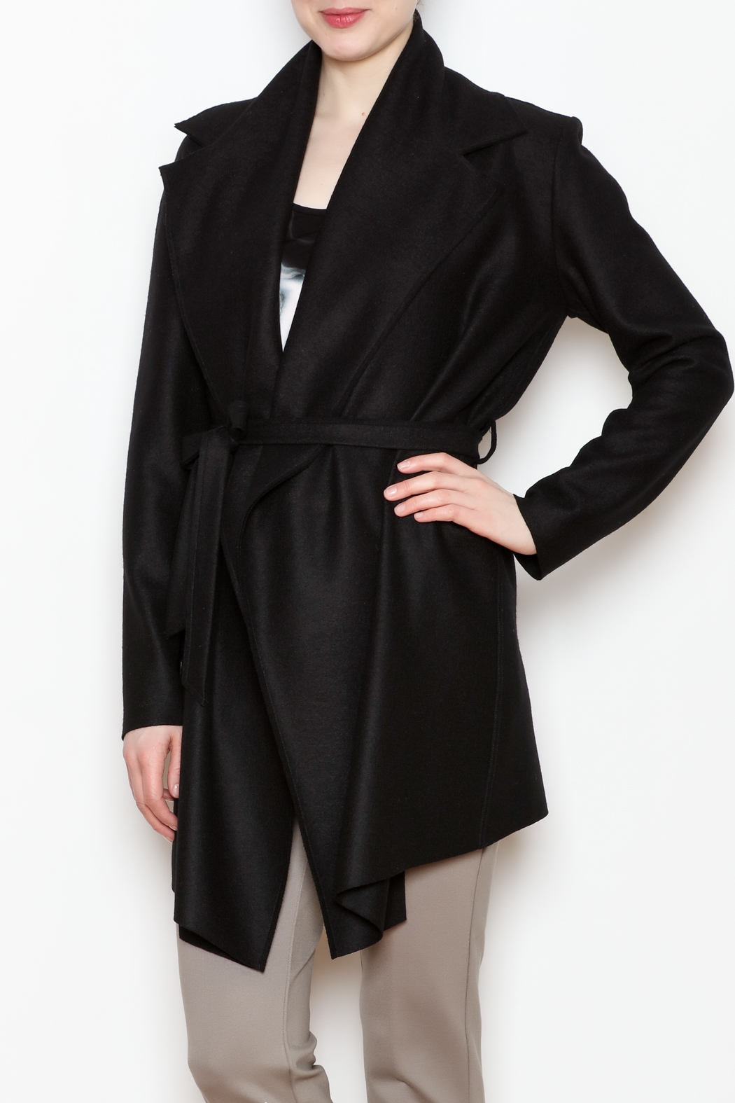 Max Volmary Belted Wrap Jacket - Front Cropped Image