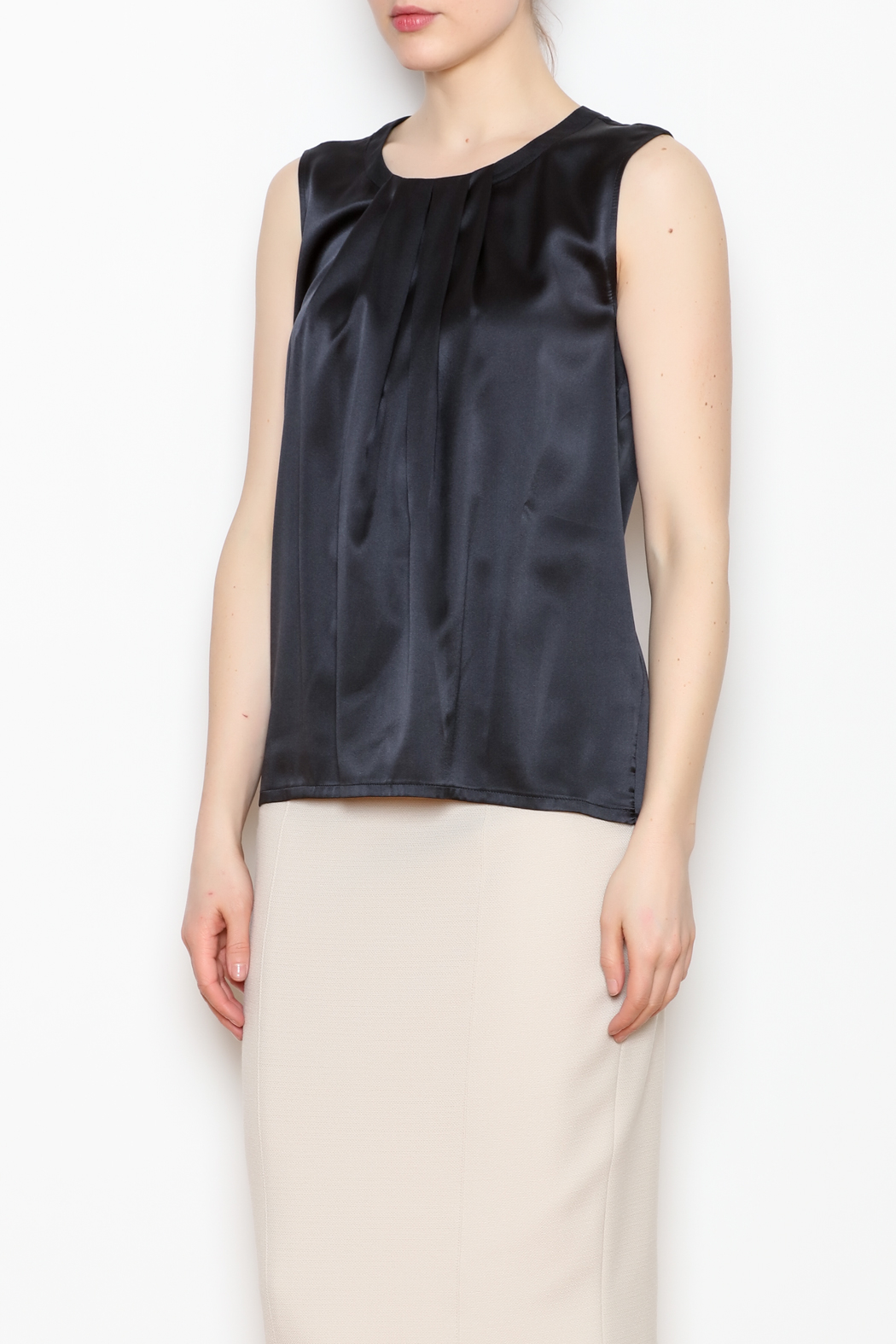 Max Volmary Sleeveless Silk Top - Front Cropped Image