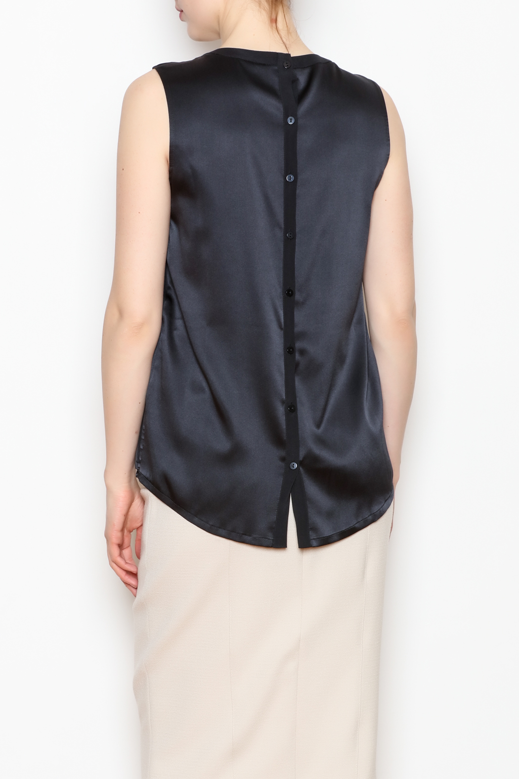 Max Volmary Sleeveless Silk Top - Back Cropped Image