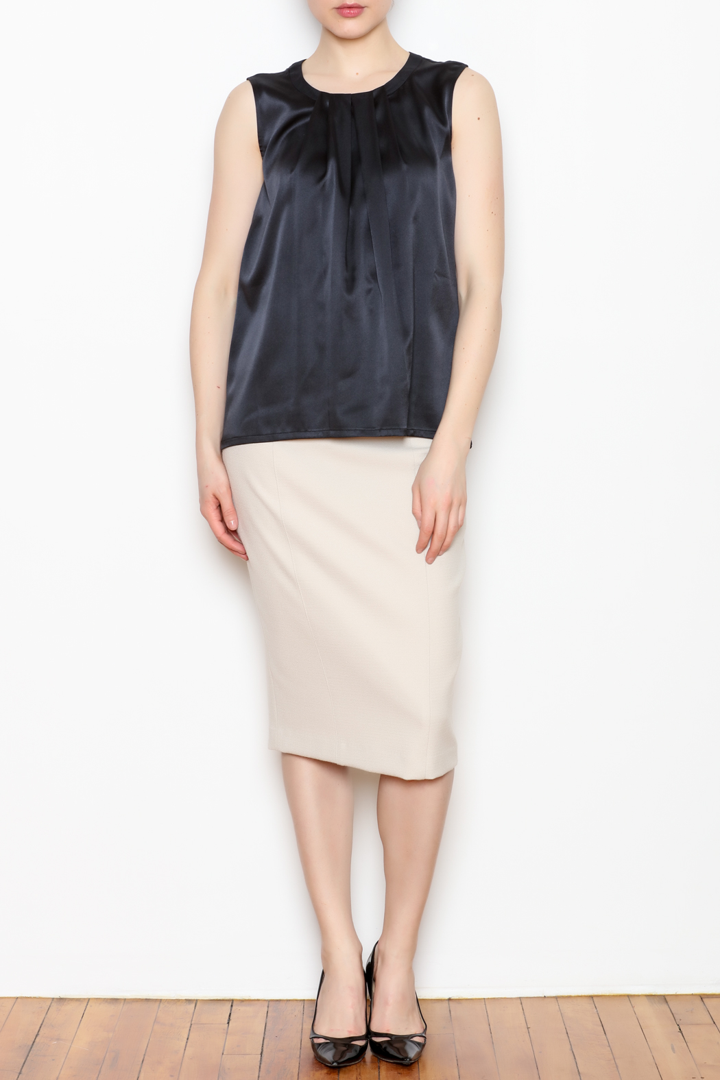 Max Volmary Sleeveless Silk Top - Front Full Image