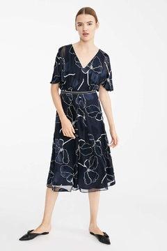 Max Mara Fenice Navy Floral Dress - Product List Image