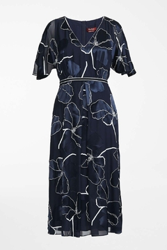 Max Mara Fenice Navy Floral Dress - Alternate List Image