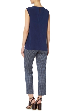 Max Mara Jacquard Navy Trousers - Alternate List Image