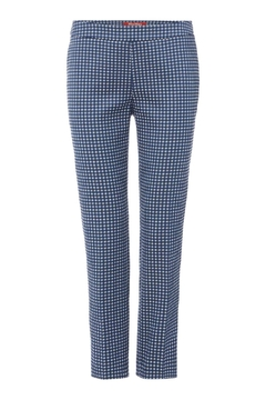 Max Mara Jacquard Navy Trousers - Product List Image