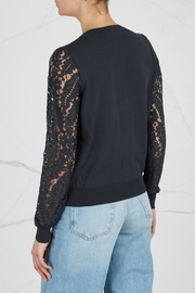 Max Mara Lace- Sleeved Cardigan - Back cropped
